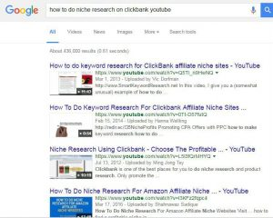 How to do niche research on clickbank google