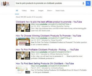 How to find products to promote on clickbank google
