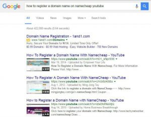How to register a domain name google