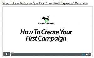 Lazy Profit Explosion Video 1