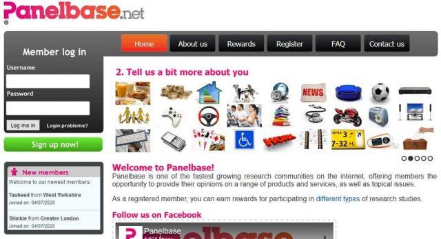 panelbase homepage