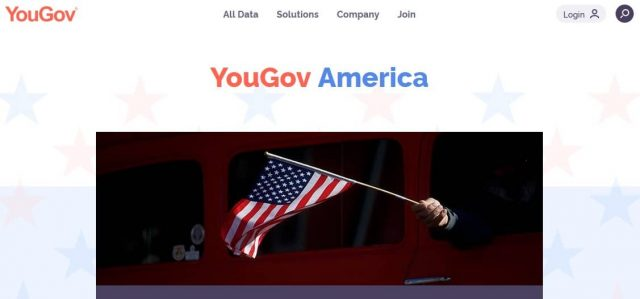 yougov america homepage screenshot