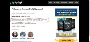 Turnkey Profit Machines Membership Site