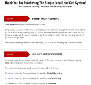 Simple Local Lead Generation System Membership Site 1