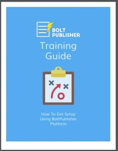 Bolt Publisher Training 2