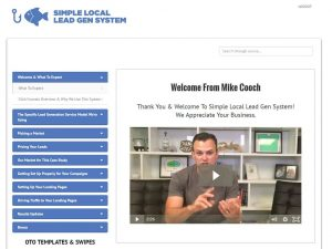 Simple Local Lead Generation System Membership Site 2