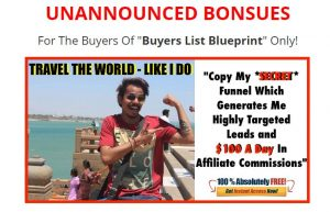 Buyers List Blueprint Bonuses 1