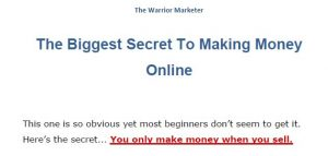 The Warrior Marketer Secret 3