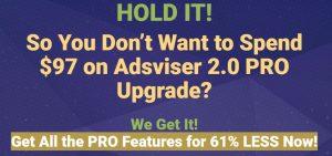 Adsviser 2.0 Upsells 2