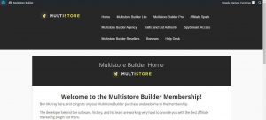 Multistore Builder Welcome Page