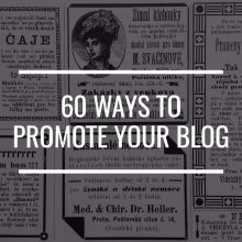 60 Ways To Promote Your Blog