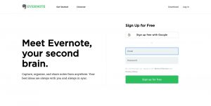 How To Design Your Own Blog: Evernote Sample CTA