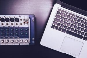 How To Make Digital Products - audio mixer laptop