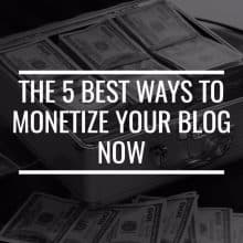 best ways to monetize your blog featured image