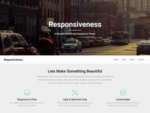 screenshot of Responsiveness theme in WordPress