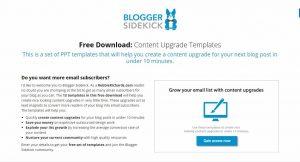 Blogger Sidekick Landing Page
