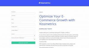 Kissmetrics Landing Page