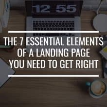 Essential Elements of a Landing Page Featured Image