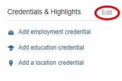 Quora Topic-Based Credentials Step 1 Edit