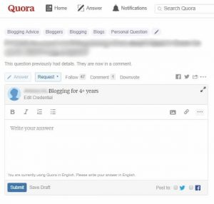 Quora Topic-Based Credentials Step 4 Topic-based credentials displayed on answer
