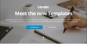 Lander Landing Page