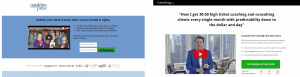 Outskirts Landing Page versus Consulting Landing Page