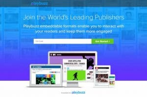 Playbuzz Landing Page
