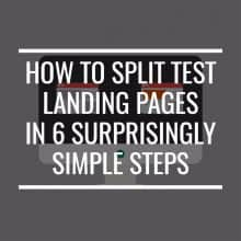 how to split test landing pages