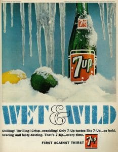 vintage 7up ad wet & wild