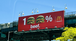 McDonald's billboard 100% beef