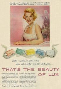vintage lux ad