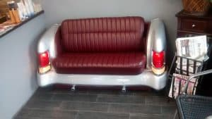 car repurposed into a couch