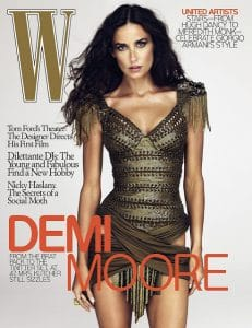 W Magazine December 2009 Cover Demi Moore