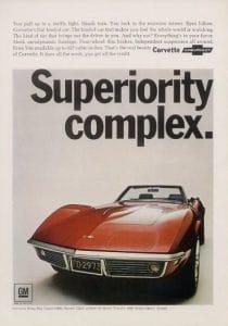 vintage corvette ad