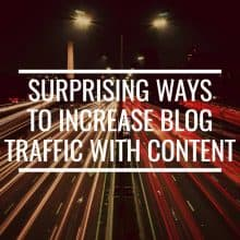 Ways To Increase Blog Traffic With Content