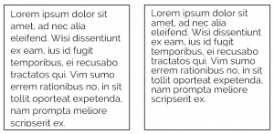 whitespace legibility example spaces between lines