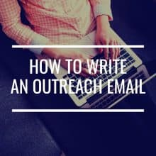 How To Write An Outreach Email