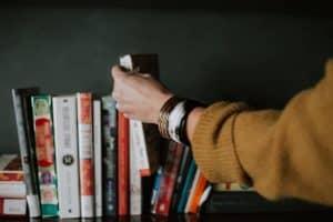 getting a book off the shelf