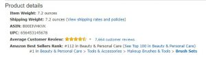 Amazon Best Sellers example - Product details section