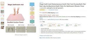 Diatomite Bath Mat