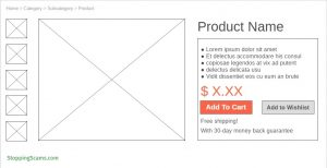 Product Detail Page Wireframe