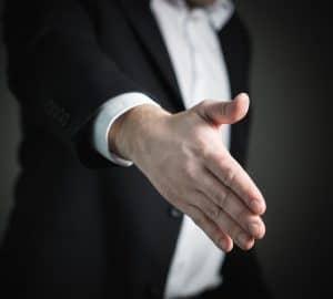 businessman offering a handshake