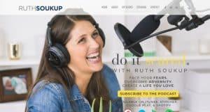 screenshot of homepage of RuthSoukup.com