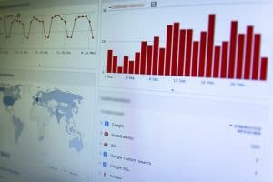 traffic statistics from analytics software