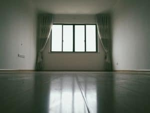 bare room with windows