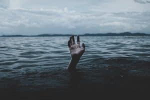 drowning in the ocean