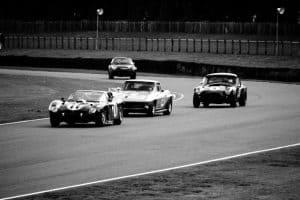 cars on a racetrack
