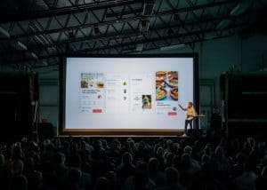 Pinterest presentation to a large audience