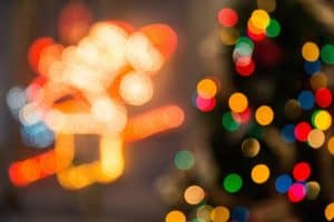 defocused photo of lights