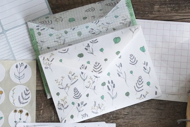 fancy envelopes and stickers for invitations